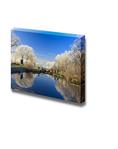 A Classical Winter Landscape on a Beautiful Day in Holland Wall Decor ation