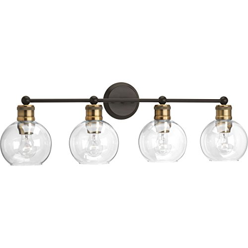 Progress Lighting P300052-020 Hansford Four-light Bath & Vanity, Antique - A Over Best Light Bathroom Mirrors Bulb