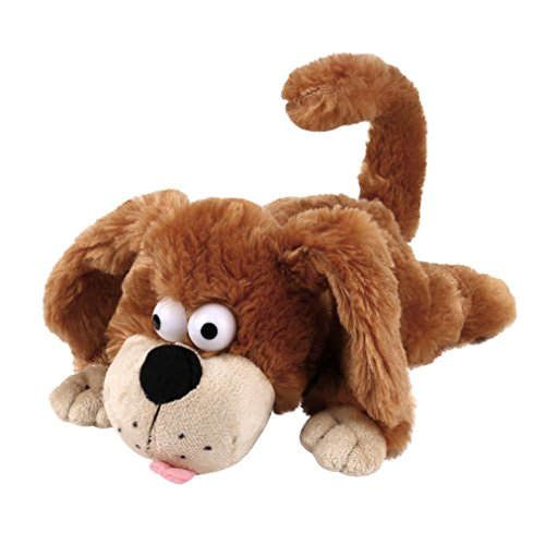 Dressin Kid Toys for Boys Girls,Interactive Electronic Puppy Toy Sloshing Induction Roll Around Scream Plush Dog Toy Stuffed Animal Pet Electronic Robot Novelty Gift for Kids (Brown)