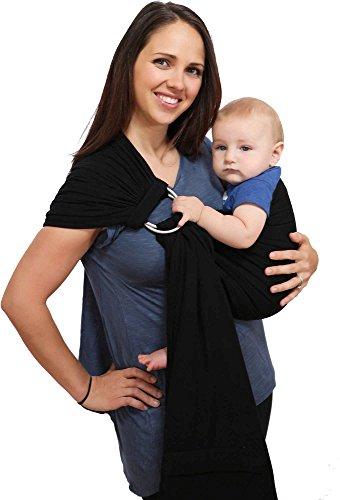 Maya Wrap ComfortFit Ring Sling & Baby Carrier - Black - Medium (Maya Wrap Slings)