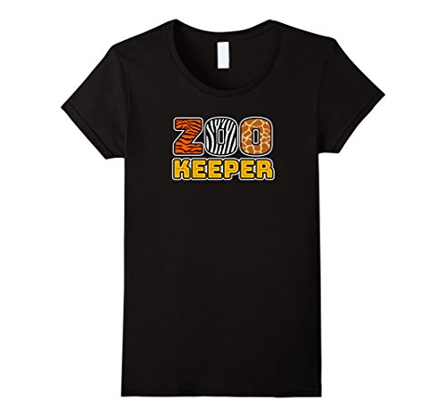 [Womens Zookeeper | African Savannah Animal Pattern Print T-shirt Large Black] (Woman Zookeeper Costume)