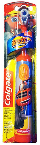 Colgate Blaze And The Monster Machines Toothbrush & Toothpaste Bundle: 2 Items - Powered Toothbrush, Bubble Fruit Toothpaste by Kids Dental Bundle (Image #1)