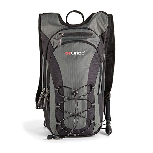Gelindo Lightweight Hydration Backpack Pack with 2L/ 70oz BPA Free Water Bladder Daypack with Insulated Compartment Prefect Outdoor Gear for Trail Running Cycling Camping Hiking - Water 10l