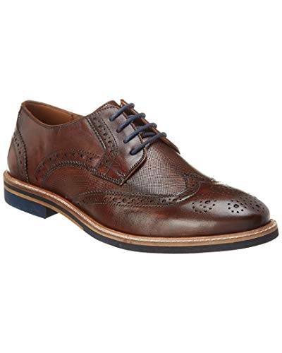 Rush by Gordon Rush Hamilton Leather Oxford, 9, Brown ()