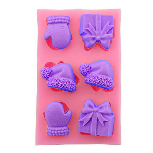 Let'S Diy Christmas Gloves Shape Silicone Fondant Chocolate Candy Mould Cake Decoration Baking Tools