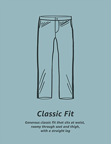 Amazon Essentials Men's Classic-Fit Wrinkle-Resistant Flat-Front Chino Pant, True Black, 36W x 32L by Amazon Essentials (Image #6)