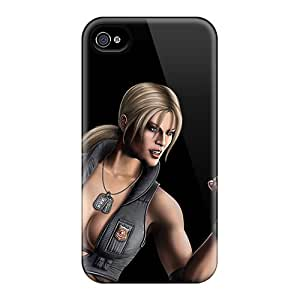 Cute Appearance Cover/tpu VIC5605hoIV Mortal Kombat Sonya Case For Iphone 4/4s