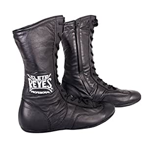 Cleto Reyes Leather Lace Up High Top Boxing Shoes - Size: 7 - Black