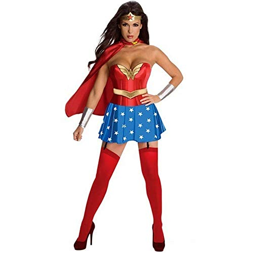 Lady Halloween Superwoman Costume Cosplay (Color : Multi-Colored, Size : XXL)]()