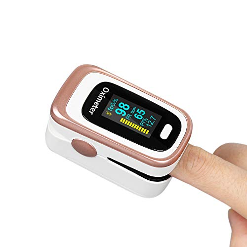 Fingertip SpO2 and Pulse Monitor, Heart Rate and Sleep Monitoring with Omnidirectional OLED Display