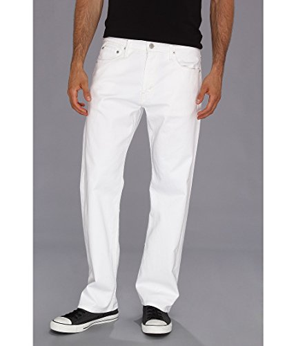 Levi's Men's 569 Loose Straight Leg Twill Pant, White, 38x34 by Levi's