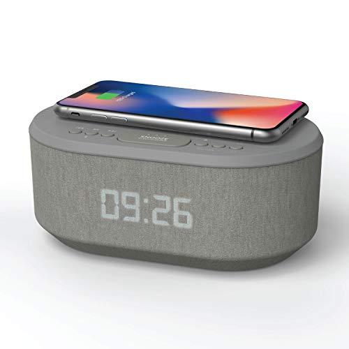 Radiowekker Wekker Digitaal voor Draadloze Oplader, Wekkerradio Digitale met Bluetooth, USB-oplader, Dimbaar LED Display…