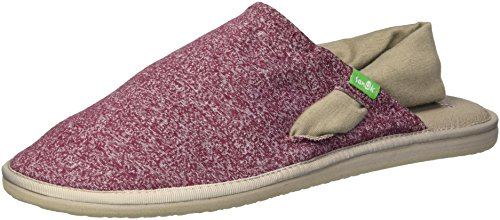 (Sanuk Women's Yoga Sling Cruz Sandal, Heather Burgundy, 07 M US)