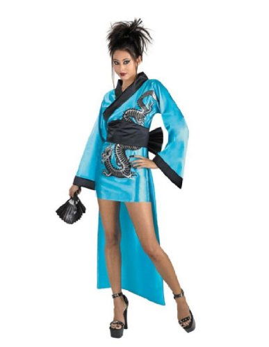 Geisha Black Girl Costume (Dragon Geisha Girl Costume Large)