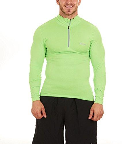 ASICS Men's Seamless 1/4 Zip (Large, Green)