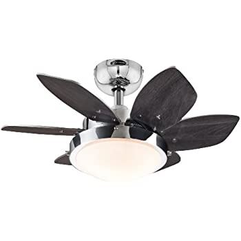 Amazon.com: 4 Blades 28-inch Ceiling Fan in Brushed Nickel for ...