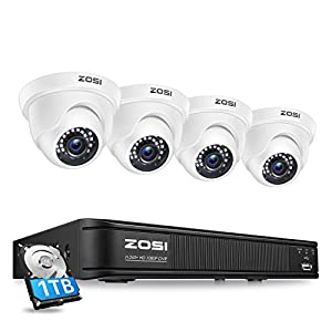 Flashandfocus.com 41YloAY0ucL._SS300_ ZOSI 1080P H.265+ Home Security Camera System,5MP Lite 8 Channel Surveillance DVR with Hard Drive 1TB and 4 x 1080p…