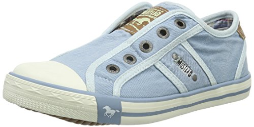 Mustang 5803-405-832 Unisex-Kinder Sneakers Blau (832 pastellblau)