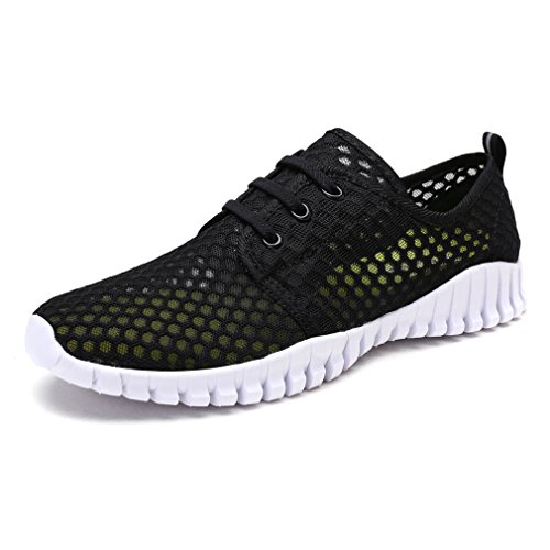 KEESKY Quick Drying Water Shoes – Mesh Aqua Shoes for Women Black Size 8