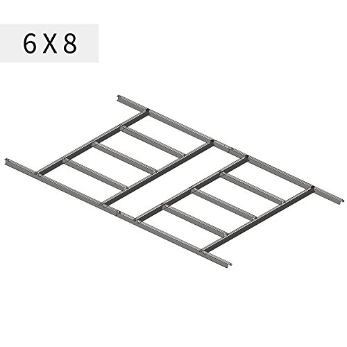 Wonlink Metal Floor Frame Kit Storage Shed Base Kit For 6''x8''Storage Buildings(fit 6''x8''), sliver by Wonlink