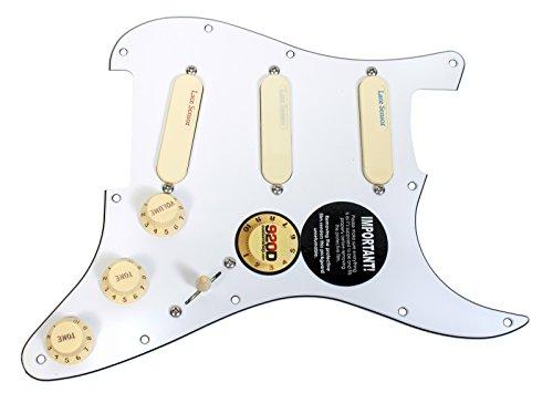 Fender Strat Loaded Pickguard Lace Sensor Pickups Blue Silver Red WH/AW