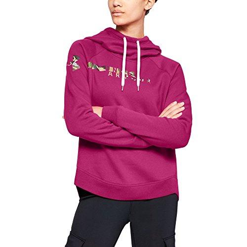 Under Armour Women's Favorite Fleece Camo Logo, Tropic Pink (654)/Ua Forest Camo, Large