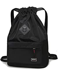 f17f5b4d03 Waterproof Drawstring Sport Bag Lightweight Sackpack Backpack for Men and  Women