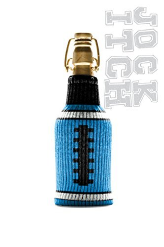 The Jock Itch Collection by Freaker USA Aqua and Black Game Day Tailgating Bottle Insulator