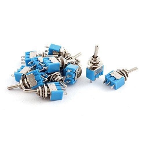 AC 125V 6A SPDT 3P ON-OFF 2 positions Rocker interrupteur à bascule 12pcs Bleu DealMux DLM-B015K4A4U6