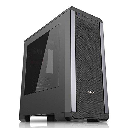 'Akyga AKY012BK Gamer PC Case Midi Tower ATX Black