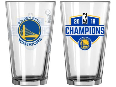 Boelter Warriors Champions 2018, Etch Pint Glass Package of One