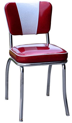 Budget-Bar-Stools-4220ZBU-1950s-Retro-Chrome-Diner-Chair-Carbon-Steel-18-L-x-16-W-x-32-H-Red