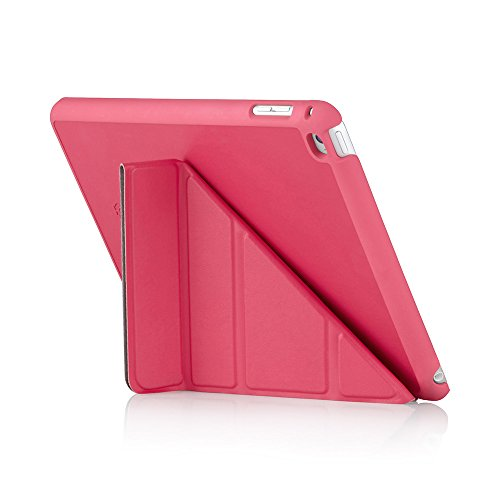 Pipetto iPad Mini 4 Case - Origami Smart Cover - Pink Luxe Vegan Leather (Compatible with iPad Mini 4)
