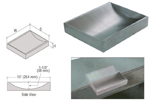 CRL Standard 12'' Wide X 10'' Deep X 2'' High Brushed Stainless Counter Top Deal Tray by CRL