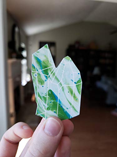 Green Acrylic Pour Crystal Weatherproof Sticker
