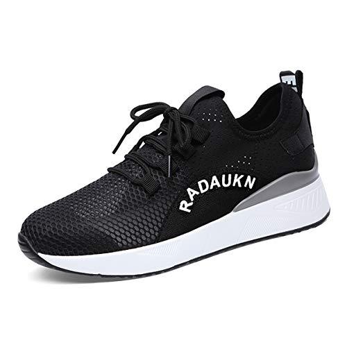 AJUNR Transpirable Fondo Grueso Zapatos Deportivos Zapatos de Damas de Blanco Zapatos de Mujer Zapatos de los Deportes white