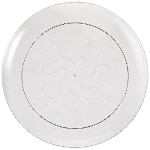 Fineline Settings 20-Piece Savvi Serve Plastic Plate, 7-Inch, Clear