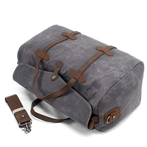 En Bandoulière Gray Sac À Femme Voyage Dark Courte Puwenycc color De Toile Et Capacité Main Grande Gray Pour Distance tqU8wz