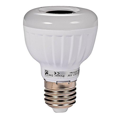 Signstek E27/E26/B22 5W PIR Infrared Sensor Motion Detector LED Light Bulb with Flexible Tube White