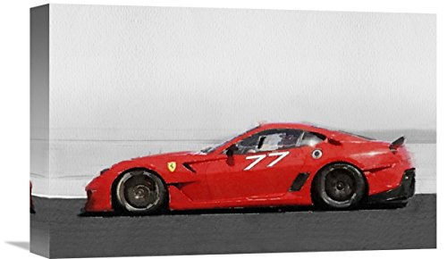 Naxart Studio 2006 Ferrari 599 GTB Fiorano Watercolor Giclee on Canvas, 18