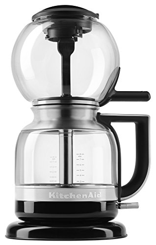 KitchenAid KCM0812OB Siphon Coffee Brewer, Onyx Black (Bodum Coffee Vacuum)