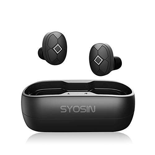 Wireless Earbuds Bluetooth 5.0 TWS Noise Cancelling Headphones with Wireless Charging Case Stereo Sound Headset with IPX7 Waterproof Built-in Mic for Driving/Work/Sports