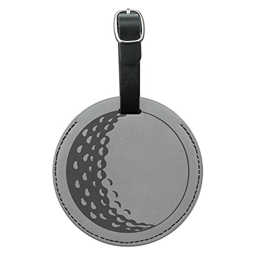- Graphics & More Ball Golfing Golfer Round Leather Luggage Id Tag Suitcase Carry-on, Black