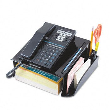 Universal 08116 Telephone Stand and Message Center, 12 1/4 x 10 1/2 x 5 1/4, Black by Universal (Image #1)