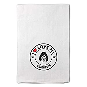 Custom Decor Flour Kitchen Towels I Love My Ariegeois Dog Style A Pets Dogs Cleaning Supplies Dish Towels Design Only 10