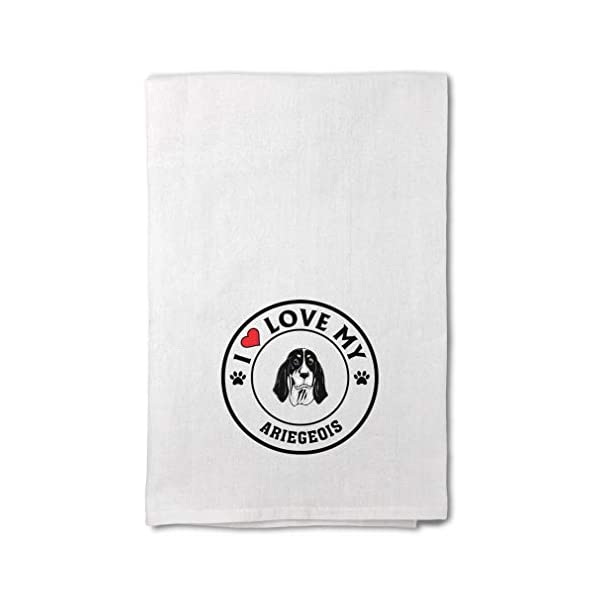 Custom Decor Flour Kitchen Towels I Love My Ariegeois Dog Style A Pets Dogs Cleaning Supplies Dish Towels Design Only 1
