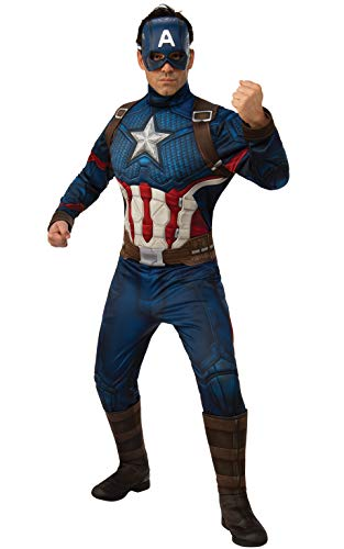 Rubie's Marvel: Avengers Endgame Adult Deluxe Captain America Costume & Mask, X-Large