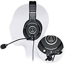 Audio-Technica ATH-M40x Professional Monitor Headphones -INCLUDES- Antlion Audio Modmic 5 Boom Microphone AND Blucoil Y Splitter