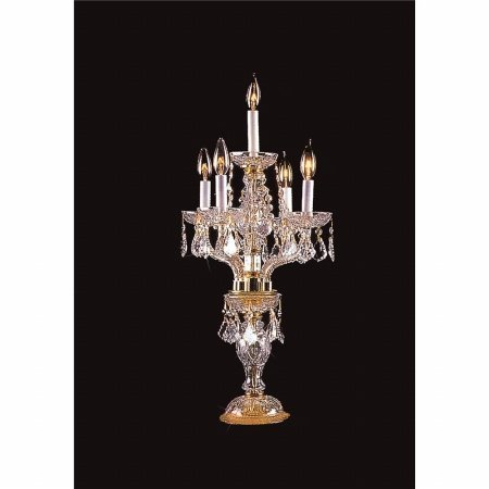 Weinstock Lighting 482105-4+1HB Crystal Candelabra Table Lamp