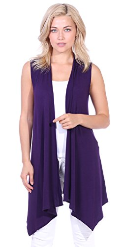 Popana Womens Casual Sleeveless Cardigan product image